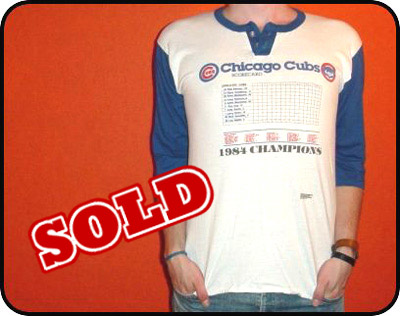 new concept 3df4c 200e0 Son and Heir Apparel | vintage Chicago Cubs 1984 champs ...