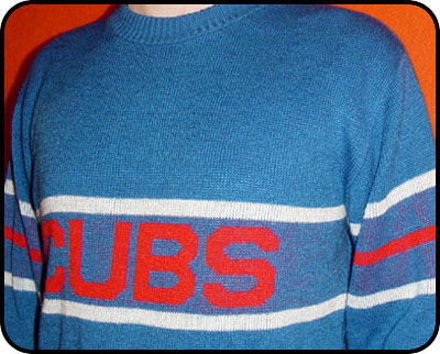 Son and Heir Apparel   vintage 80's Chicago Cubs sweater